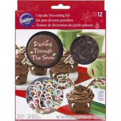 Cupcake decorating kit  XMS 415-7224 Reindeer 24 kos