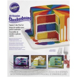 Pekač 2105-5745  Square Checkerboard Cake Set