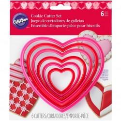 Set modelčkov za piškote Wilton  VD 2304-1668 Nesting Heart