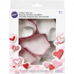 Set modelčkov za piškote Wilton VD 2308-0216 XO Heart Game