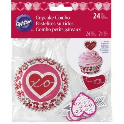 Wilton VD 415-5517 Komplet za cupcakes Heartfelt Confections 24 kos