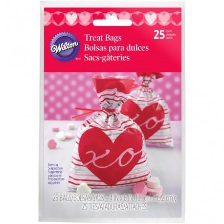 Vrečke Wilton VD 1912-5515 Shaped Bag Heartfelt Confections 15 kos