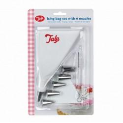 Tala 10A09927 Tala Icing Bag 6 Ss Nozzles Scraper & Brush