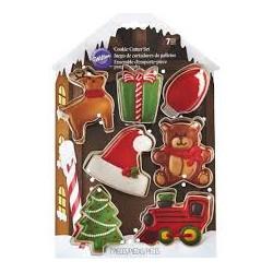Set modelčkov za piškote Wilton XMS 2308-8930 Santas Workshop