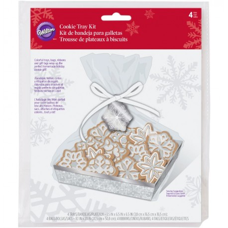 Cookie Treat Box Kit  Wilton XMS 1912-2138 Snowflake 3 kos