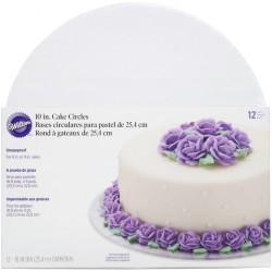 Wilton Cake Board - 2104-80 - podstavek za torto - BEL - 20,3 cm 12 kos