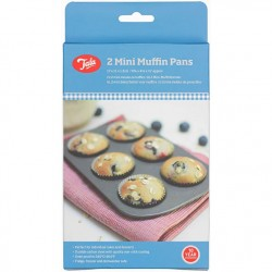 Tala 10A11618 Tala 2 Mini Muffin Pan Set 2 pekačev za mini muffine