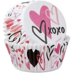 Papirčki za peko Wilton VD 415-4443 Valentine 75 kos