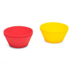 PATT 10467 Silicone cupcake cases Roza in zeleni