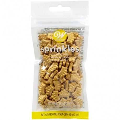 Wilton Sprinkles VD 03-3070 Gold Crowns 56 g