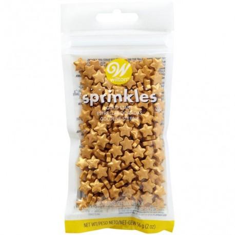 Wilton Sprinkles XMS 03-3072 Gold Stars 56 g