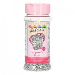 FunCakes Dekorativni posip NonPareils Silver / Srebrne perle 80 g