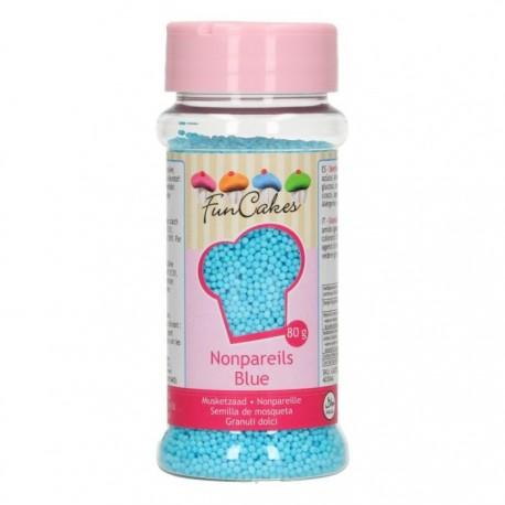 FunCakes Dekorativni posip Nonpareils Blue / Modre perle 80 g