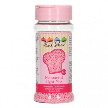 FunCakes Dekorativni posip Nonpareils Light Pink / Roza perle 80 g