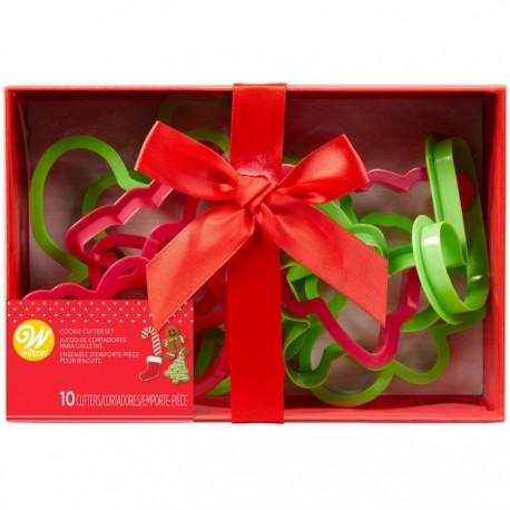 Set modelčkov za piškote Wilton XMS 2304-3956 Christmas / 10 kos