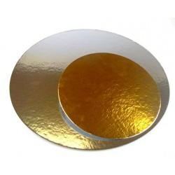 FunCakes Cake Board Silver/Gold KA801-0035 Podstavek za torto zlat/srebrn 35 cm 3 kos