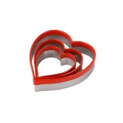 Tala 10A0090 Modelček za piškote 3 Heart Cutters / Srce 3 kos
