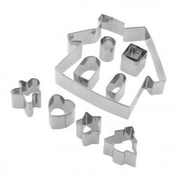 Tala 10A10544  Set modelčkov za piškote Gingerbread House 10 kos