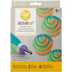 Set za dekoriranje Wilton 2104-7072  9pc Color Swirl Decorating Set