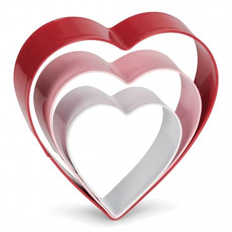 PATT 0002023 Cookie Cutter Heart Set /  Set modelčkov za piškote srce 3 kos