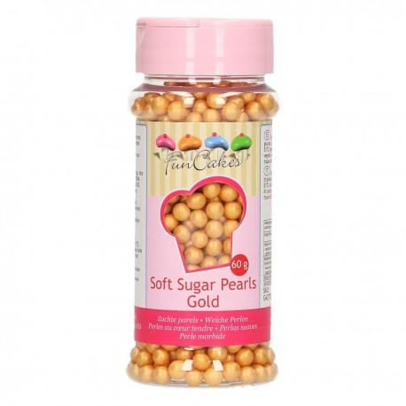 FunCakes Dekorativni posip Soft Pearls Gold 60 g
