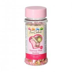 FunCakes Dekorativni posip Sprinkle Medley Glamour Pink 65g