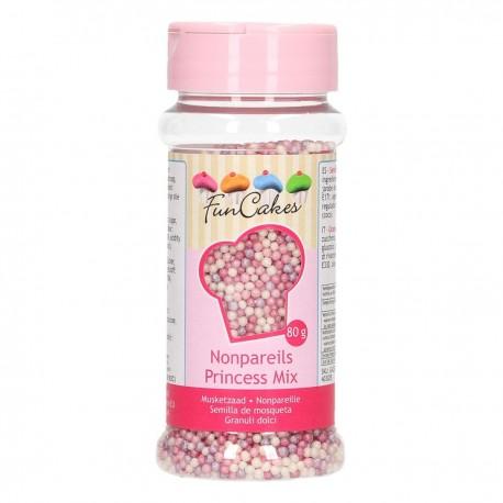 FunCakes Dekorativni posip NonPareils Princess Mix / Perle Princess Mix 80 g