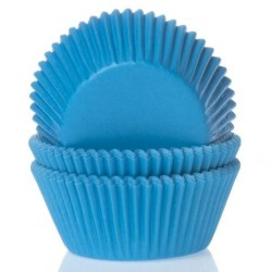 HoM Papirčki za muffine HM0084 Cyan Blue  50 kos