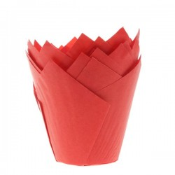 HoM Papirčki za muffine Tulip HM5720  Red 36 kos