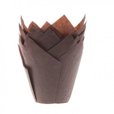 HoM Papirčki za muffine Tulip HM5638 Brown 36 kos
