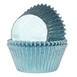 HoM Papirčki za muffine Foil HM4365 Baby Blue / Baby modra  24 kos