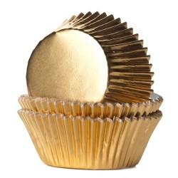 HoM Papirčki za muffine Foil HM2026 Gold / Zlata  24 kos