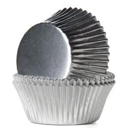 HoM Papirčki za muffine Foil HM2019 Silver / Srebrna  24 kos