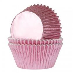 HoM Mini papirčki za peko Foil HM5997 Baby Pink  36 kos