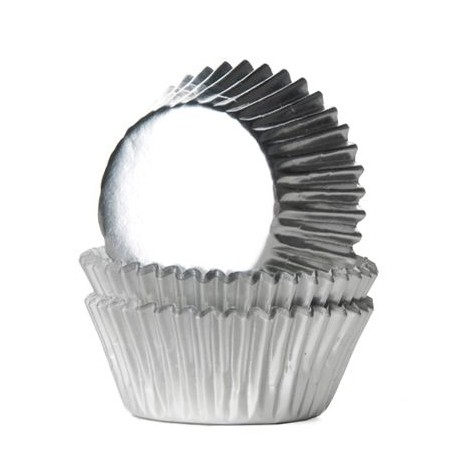 HoM Mini papirčki za peko Foil HM2262 Silver  36 kos