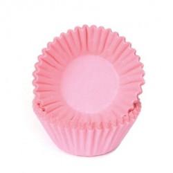 HoM Mini papirčki za peko Chocolate HM6505 Pastel Pink 100 kos