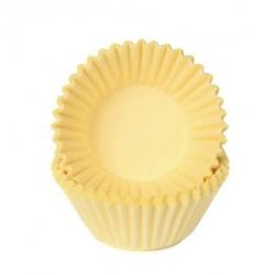 HoM Mini papirčki za peko Chocolate HM6529 Pastel Yellow  100 kos