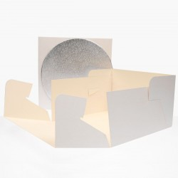 FunCakes Cake Box + cake board / Škatla za torto s podstavkom FCO910 25 x 25 x 15 cm