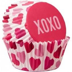 Papirčki za peko Wilton VD 415-4445 Juvenile Valentine 75 kos