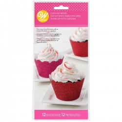 Cupcake Wrappers Wilton VD 415-4450 Glitter Red & Pink 24 kos