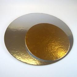 FunCakes Cake Card Silver/Gold FC02616RD Podstavek za torto zlat/srebrn  15 cm 3 kos