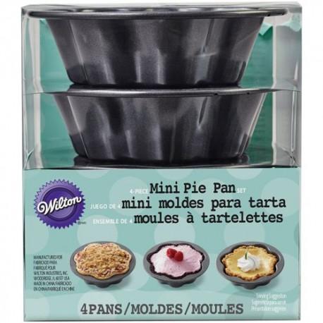 Wilton 2105-4639 Mini Wave Pie Pan Set  / Set pekačev za pite 10 cm 4 kos