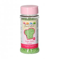 FunCakes G42214 Dekorativni posip Sugar Dots Green 80g