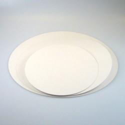 FunCakes Cake Card White FC2820RD Podstavek za torto zlat/srebrn 20cm 5 kos