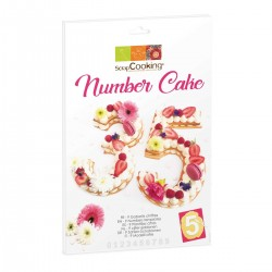 ScrapCooking SC3927 Cake Template Number Set