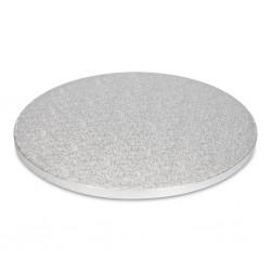 PATT 1860 Cake Drum - srebrn 25 cm 1 kos