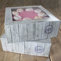 FunCakes Cake Box Pure / Škatla za torto  FC1115 21 x 21 x 9 cm 2 kos
