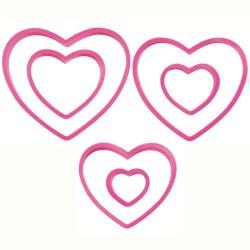Set modelčkov za piškote Wilton  VD 2304-115 Nesting Heart