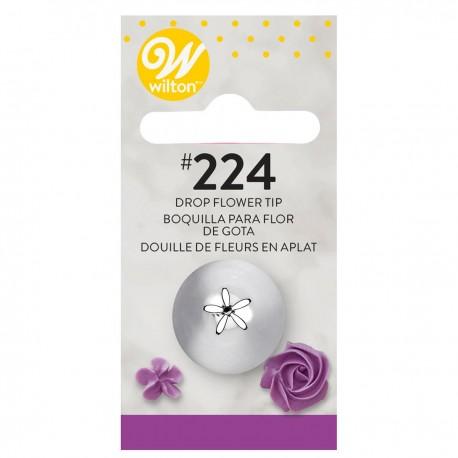 Wilton 418-224  Decorating Tip / Konica za dekoriranje 224 Dropflower Carded