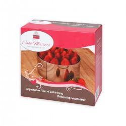 CakeMasters CM10876 Cake Ring / nastavljiv obroč za torto / 16-30 cm / 8 cm